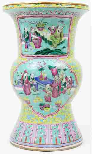 ca 1900 Chinese Polychrome Vase