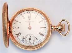 Ladies 14k yellow gold Waltham pocket watch