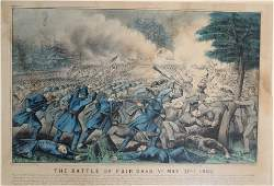 Currier and Ives The Battle of Fair Oaks