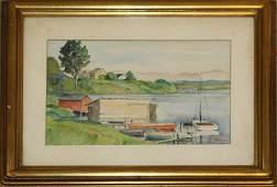 Axel Eugene Schar AM 1887 Lake Scene