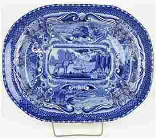 Deep Blue Staffordshire Quadrupeds Platter