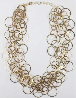 Modern 14k loop necklace