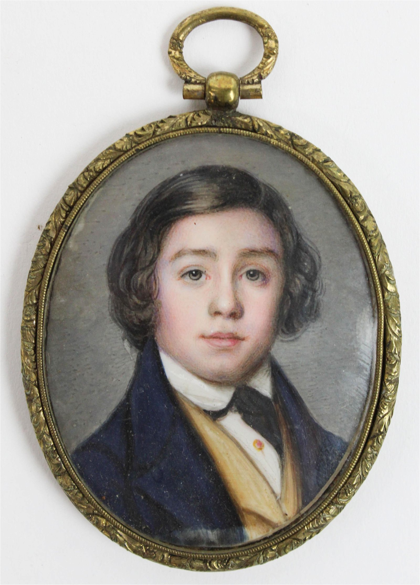 Miniature Portrait of a Handsome Young Man