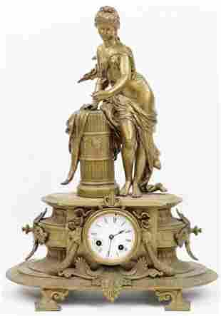 Late 19th c French Figural Garniture Clock