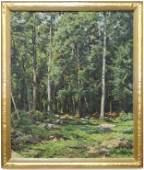 Hugh Bolton Jones (AM 1848-1927) The Edge of the Woods