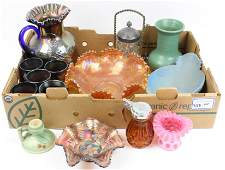 Victorian, Carnival Glass and Pottery