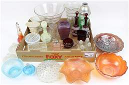 Lot of Carnival, Bohemian and Victorian Glass