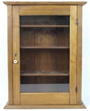 ca 1900 Small Oak Medicine Cabinet