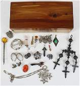 A group of Scottish silver & stone jewelry