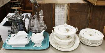 Victorian Silver-plated items, Grindley Porcelain