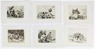 6 Francisco de Goya (Spain 1746-1828) etchings