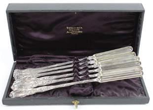 Tiffany Chrysanthemum and Olympian Marrow Spoons