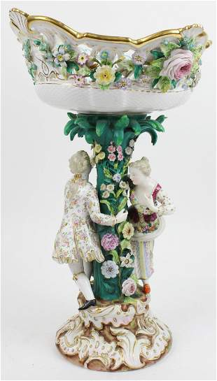 Meissen Porcelain Monumental Figural Compote