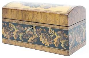 19th c Labeled English Tunbridge Ware Box