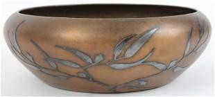 Heintz Arts & Crafts Sterling on Bronze Bowl