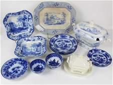 Blue Transferware Tureen, Flow Blue China