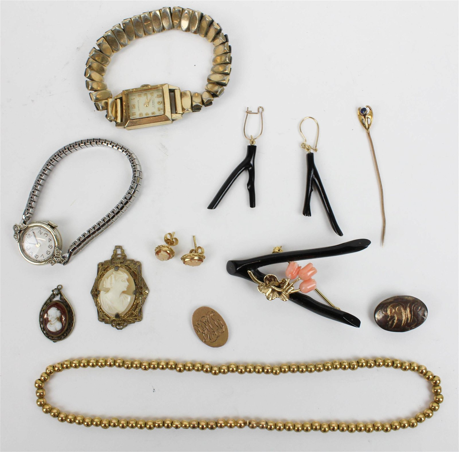 Group of Victorian gold jewelry
