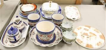 Ceramics including Hammersley, Polish Pottery