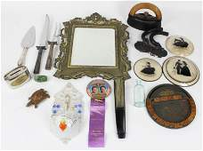 Group of Assorted Smalls incl Bank Mirror etc