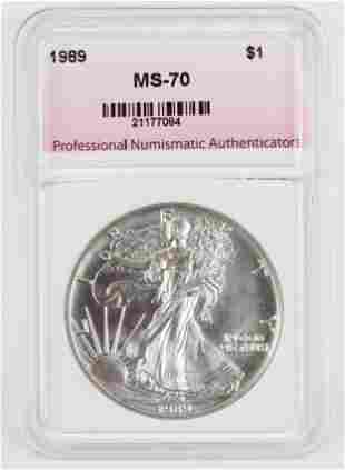 1989 US American Silver Eagle MS-70
