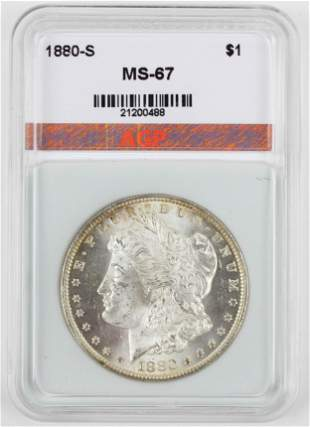 US 1880-S Morgan Silver Dollar MS-67
