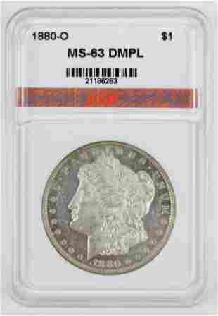 US 1880-O Morgan Silver Dollar MS-63 DMPL