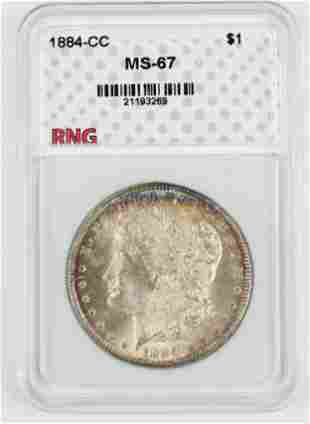 US 1884-CC Morgan Silver Dollar MS-67