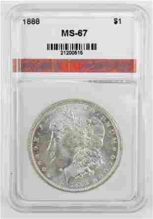 US 1888 Morgan Silver Dollar MS-67