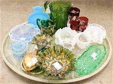 Lot of Victorian Art Glass and EAPG Tableware