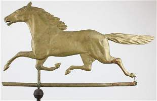 19th c Smuggler Running Horse Weathervane