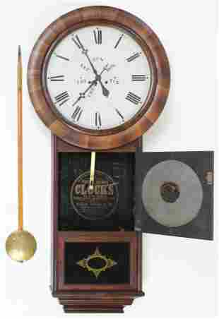 Welch, Spring, & Co #1 Calendar Wall Clock