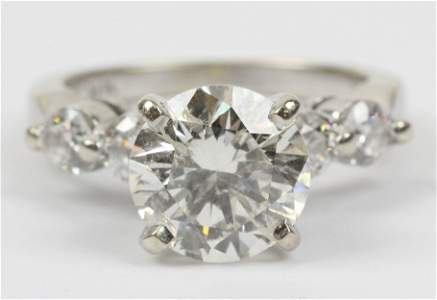 2.43 ct diamond solitaire brilliant round cut ring