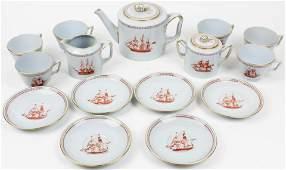 15 pc Spode Trade Winds Porcelain Tea Set