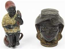 Black Americana Cast Iron Bank  Paperweight