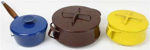 3 pcs. Enameled Cookware incl. Dansk, Copco