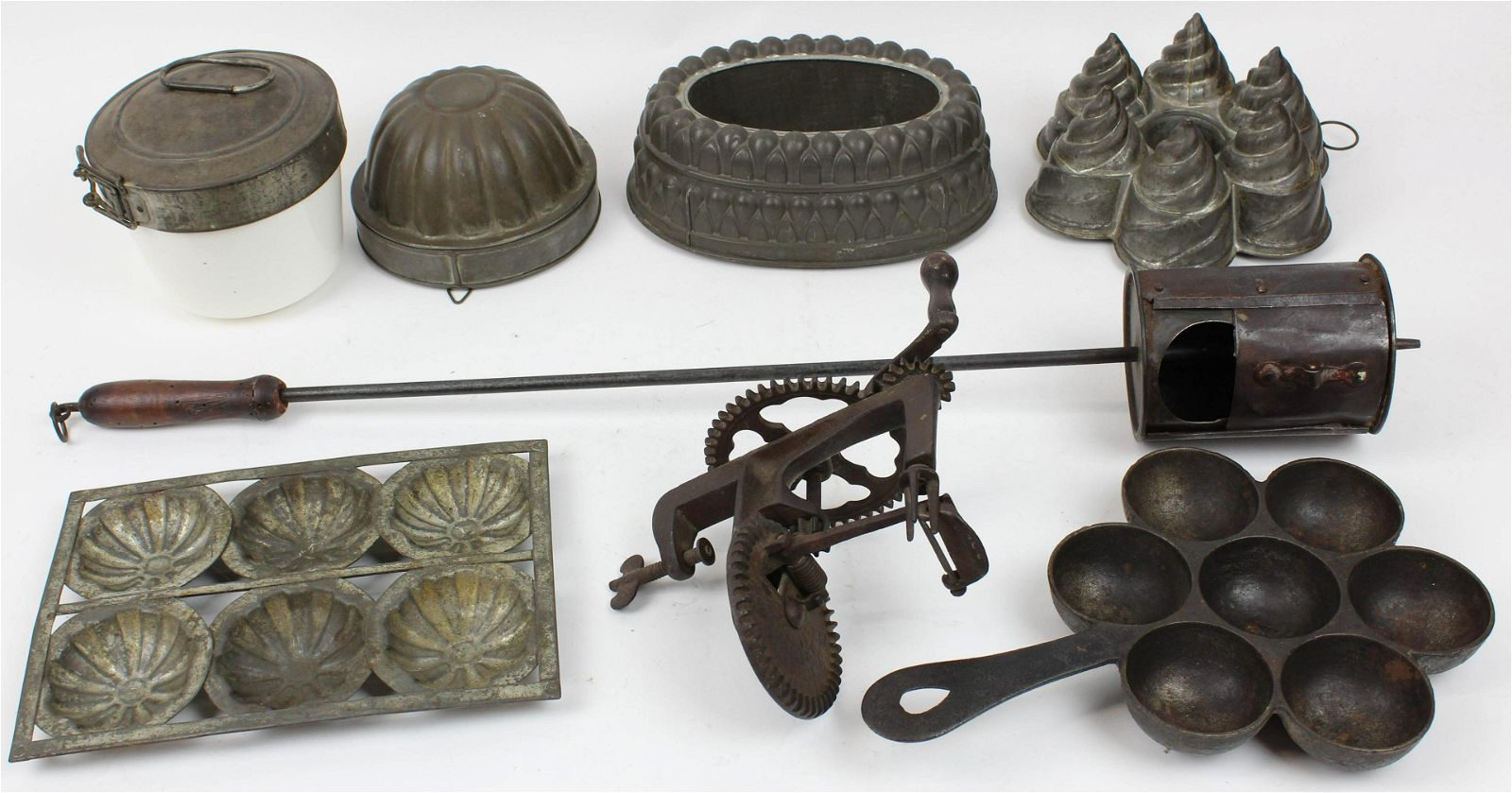 8 pcs of Early Tin Kitchenware