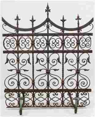 Ornate Wrought Iron Fence Section