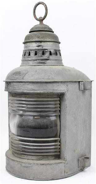 Large 19th c Ship's Lantern