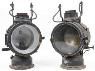 2 German Railroad Lanterns
