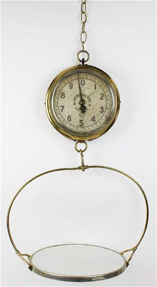 Enterprise Brass Food Scale with Pan