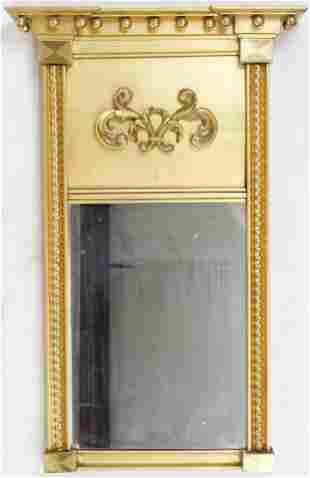 Federal Split Column Mirror with Label