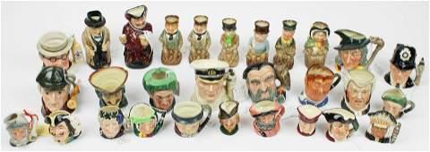 29 Royal Doulton Small Porcelain Character Jugs