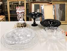 Group of Elegant Depression Era Serving Glassware
