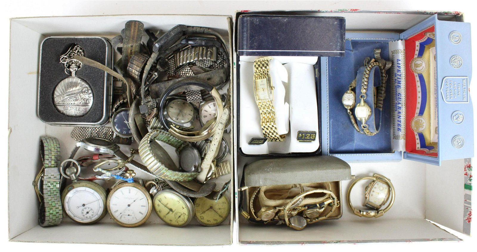 Group of Vintage Wristwatches and Pocket watches