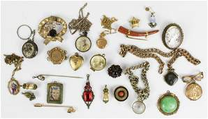 Lot of Victorian Jewelry Cameos Brooches