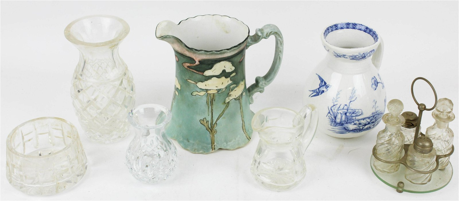 Waterford Irish Crystal and Porcelain Pitchers