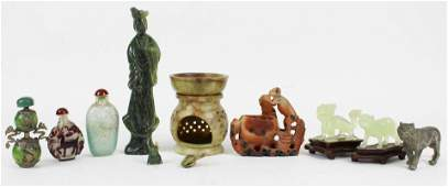 Chinese Snuff Bottles and Carved Stone Figures