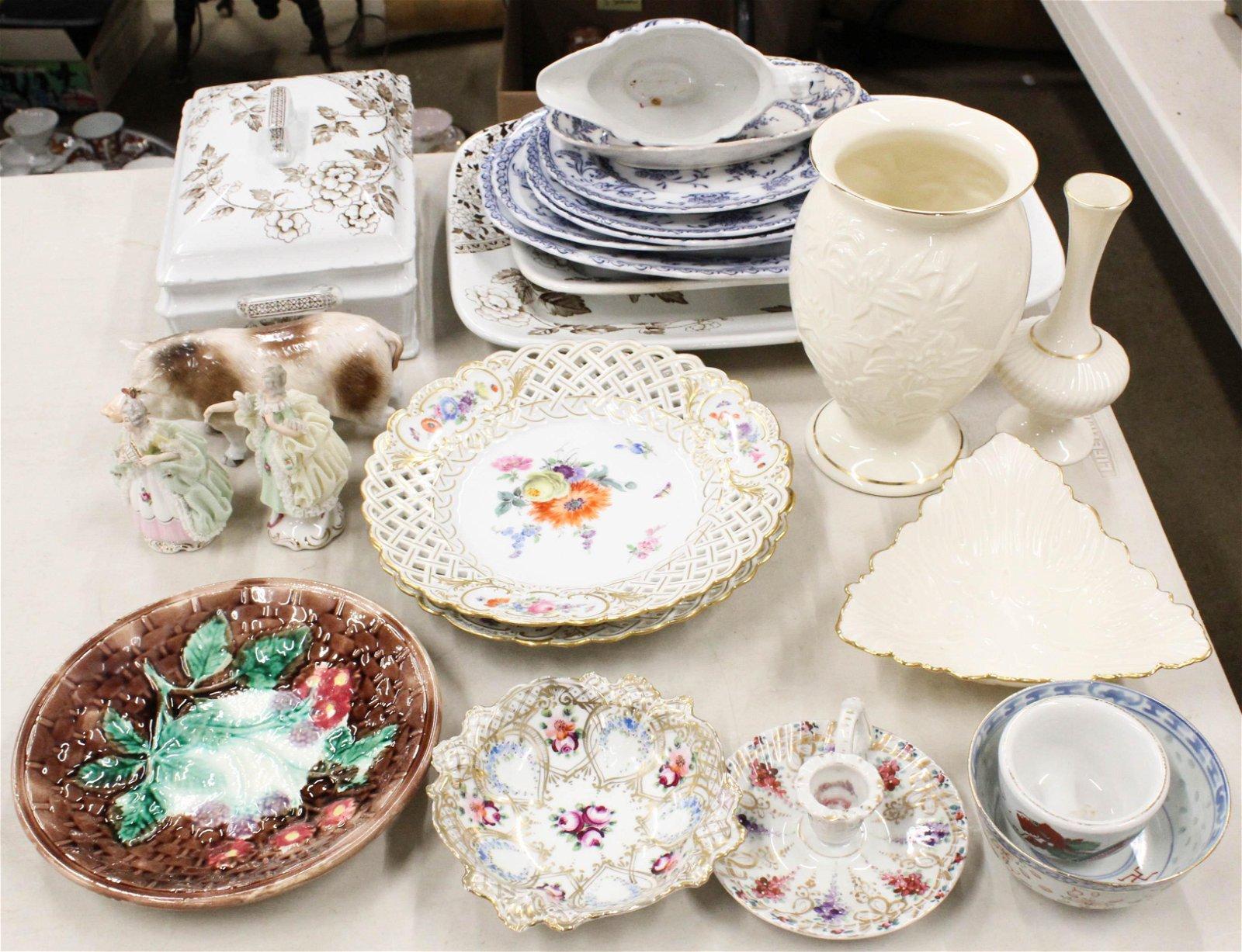 Meissen Porcelain Plates, Other Tableware