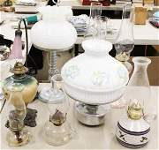Lot of Vintage Lighting and Oil Lamps