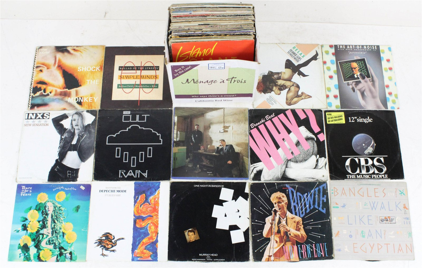 "Vintage 12"" 45, 33 1/3 RPM Vinyl Records"